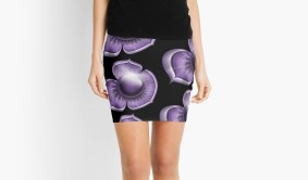 Purple Flower Model Skirt
